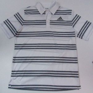 Adidas Mens puremotion white and gray Polo M